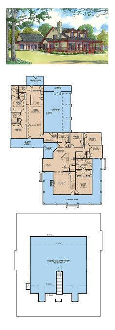 New House Plan 82417 | Total Living Area: 3437 sq. ft., 6 bedrooms and 4 bathrooms. #newhomeplan