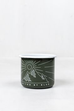 United by Blue wilderness enamel steel mug