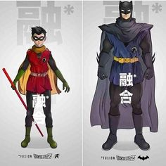 DBZ Batman and Robin art!  #ComicsAndCoffee