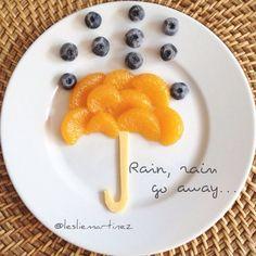 Fun & Healthy Snack • Mandarines | Blueberries | American Cheese | by @Leslie Martinez