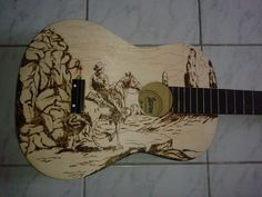 Acoustic Guitar PyroArt