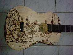 Acoustic Guitar PyroArt