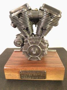 Vintage Harley Davidson Pewter Replica Panhead by SuburbanBlues