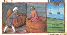 September and Libra - Book of Hours, MS M.271 fol. 9r - Images from Medieval and Renaissance Manuscripts - The Morgan Library & Museum