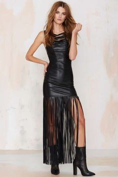 Nasty Gal Total Eclipse Fringe Dress - Midi + Maxi | Going Out | LBD | Dresses