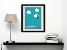 Truman Show movie poster, minimalist, cinema, Truman Show, contemporary art