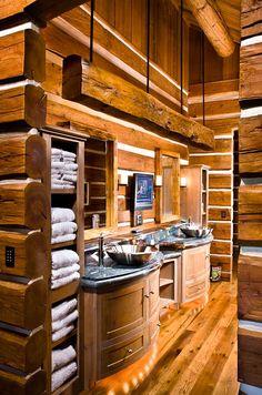 Sweet rustic cabin bathroom