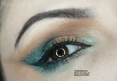 """""""Elusive"""" by #makeupartist and model #redznowhite wearing #crueltyfree #leadfree #mineral #eyeshadow in Nude, Emerald Isle, Aqua Brown and Dolce Vita and #blush in Sweet Cheeks"""