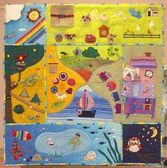 Play Mat Felt Play Mat, Play Mats, Crochet Quilt Pattern, Felt Games, Soft Play Area, Felt Books, Quiet Books, Book Libros, Activity Cube