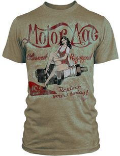 Check out a new guys shirt and hat line AYP is now carrying - Motor Age Clothing - MAC specializes in a vintage look and feel -this is the Remapped shirt Tan Shirt, Shirt Outfit, Cyberpunk Clothes, Basic Outfits, Vintage Looks, Shirt Designs, Mens Fashion, Mens Tops, Shirts