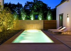 Modern pool.
