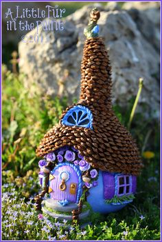 Fairy Cottage Whimsical OOAK Fairy Abode by OctoberMoonArt