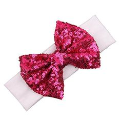 Smile Baby Girl Bling Bling Shining Headbands Elastic Hair Bands Kids Children Sequins Bow Hair Accessories HB726 * Continue to the product at the image link.