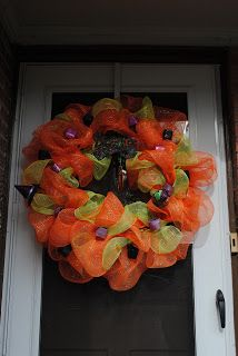 Halloween Wreath created October 2012 Please like my Facebook page at MandeMade4Y'all