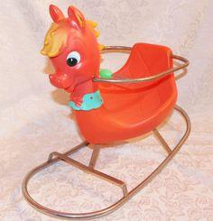 Canova Italy Rocking Horse 1950's vintage Italian nursery toy