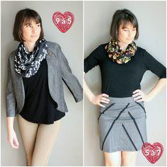 Quel look vous plaît le plus? Celui pour le 9 à 5 ou la soirée entre amis? :)  Procurez-vous l'un des modèles d'écharpes infinies à seulement 22$ sur notre boutique en ligne. Un parfait petit cadeau pour la fête des mères qui approche! ❤