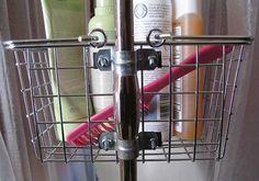 Bath tub caddy diy shower rod Ideas for 2019 Storage Tubs, Shower Storage, Diy Storage, Bathroom Storage, Bathroom Shelves, Storage Ideas, Upstairs Bathrooms, Downstairs Bathroom, Small Bathroom