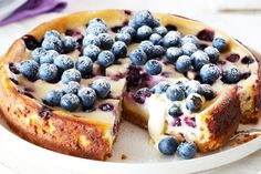 Spoil your friends and family with a sensational blueberry and lemon baked cheesecake.