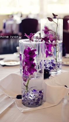 Lavender and gray wedding decorations five easy do it yourself purple centerpiece solutioingenieria Image collections