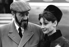 Audrey and Mel at Heathrow Airport, London (January 19, 1965).