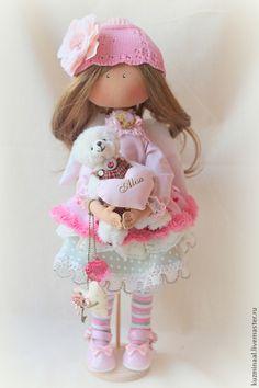 Muñecas de colección hechos a mano.  Feria Masters - hecho a mano muñeca ALISA textil.  Hecho a mano.