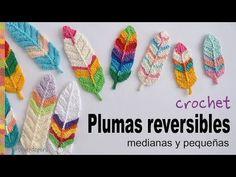 Plumas reversibles a crochet - English subtitles: Crochet reversible feathers / Tejiendo Perú - YouTube
