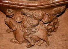 The Misericords of Norwich Cathedral -- Gluttony riding a sow Mercy Seat, Norwich Cathedral, Norfolk England, Religious Architecture, Art Society, Cathedral Church, 7 Deadly Sins, The Monks, Wood Carvings