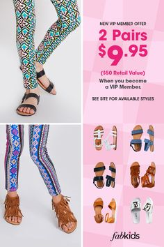 0a0b0e9b78bb4 Become a FabKids VIP Member today to get great deals like our Buy 1 Pair,  Get 1 FREE offer. Limited time only, see site for select styles.