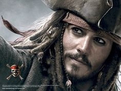 Wallpaper of Jack Sparrow for fans of Pirates of the Caribbean.