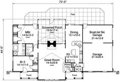 Plan 57107HA: Multiple Entrances And A Great Rear Porch