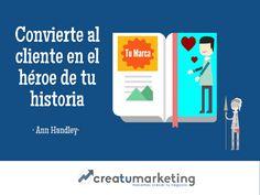 -- Convierte al cliente en el héroe de tu historia.--    Haz que tu cliente sea lo más importante para tu marca.    - creaTUmarketing -    🌀 www.creatumarketing.com | Tel. 937021951   🌀 Con creaTUmarketing invierte menos, vende más.