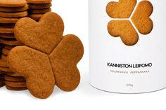 new biscuit packaging design. Finnish bakery. biscuit breaks in 3 hearts. ginger buiscut. Christmas present ideas with Nordic flavour