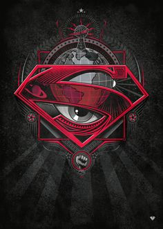 Superman And Supergirl poster prints by PopCulArt Superman Symbol, Batman Vs Superman, Superman Ring, Superman Poster, Superman Artwork, Black Superman, Superman Tattoos, Marvel Tattoos, Dc Universe