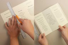 DIY Tutorial: FREE Printable Folded Wedding Program