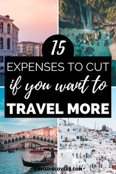 15 Unnecessary Expenses to Cut so You Can Afford to Travel - Do you want to travel more but money is stopping you? Here are 15 unnecessary expenses you are wasting your money on that you can save for travel. Ways To Travel, Travel Advice, Travel Tips, Travel Hacks, Travelling Tips, Travel Essentials, Travel Gadgets, Travel Stuff, Travel Deals