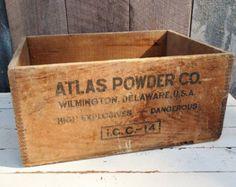 ... Atlas Extra High Explosives Industrial Primitive Rustic Storage Decor