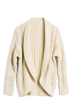 I love the cable texture in this cardigan!