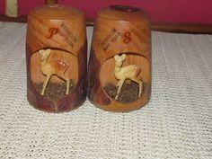 Rustic Yarmouth Nova Scotia Salt Pepper Shakers Deer Souvenir Japan | eBay