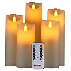 3Pcs  LED Kerzen Flammenlose Flackernde Farbwechsel mit Fernbedienung Timer