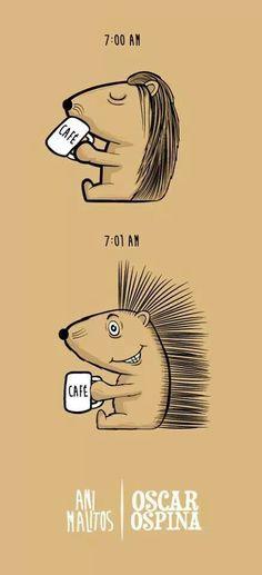 El antes y después de una taza de Café