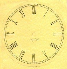 Plantillas para hacer Relojes de Pared.Esferas para Decorar - enrHedando