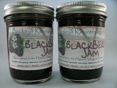 Two Jars Blackberry Jam homemade by Beckeys by BeckeysKountryStore