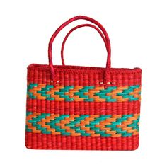 Bolsa de palha Bora Bora - vermelha - shoplixmix