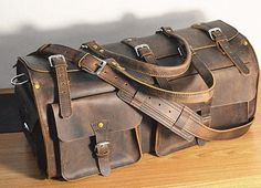 Leather Weekend Bag / Overnight Duffle / Leather by flyingstore