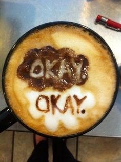 The Fault in Our Stars by John Green in a latte.