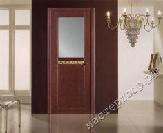 Межкомнатные двери Волховец, Тектон 2052 ТЛ  со стеклом  , шпон анегри темный лак, фото двери в интерьере