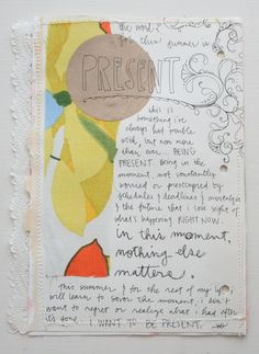 summer word journaling: being present