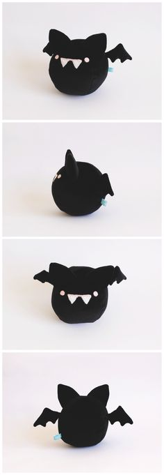 kawaii bat plush toy Mini murciélago bola.  piqueniquetoys.com handmade toy bat cute kawaii stuffed plush