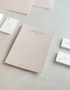 The Identité Collective - branding, web design and content creation for interior designers and lifestyle brands. Banner Day SF Branding mockups. Branded stationary + notecards.