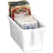 "$3.97 Kitchen Details Easy Pull Pantry Organizer Basket with Handle Grip, Slim 12.60"" L x 6.10"" W x 5.35"" D"